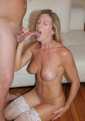 naked moms with cum in mouth